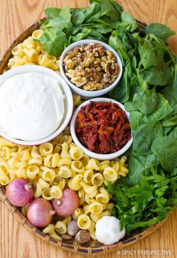 Making One-Pot Spinach Ricotta Pasta Recipe