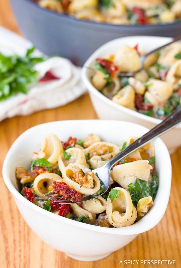 Bold One-Pot Spinach Ricotta Pasta Recipe