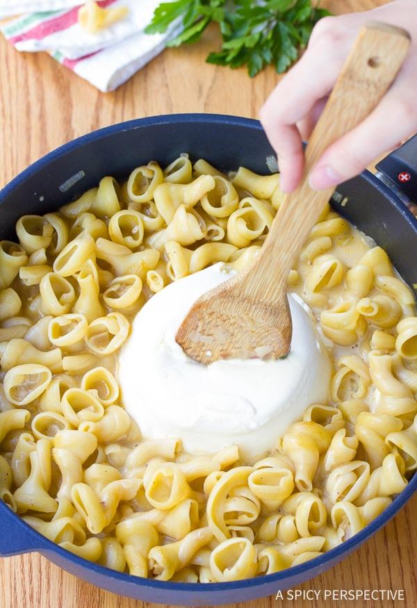 Easy One-Pot Spinach Ricotta Pasta Recipe
