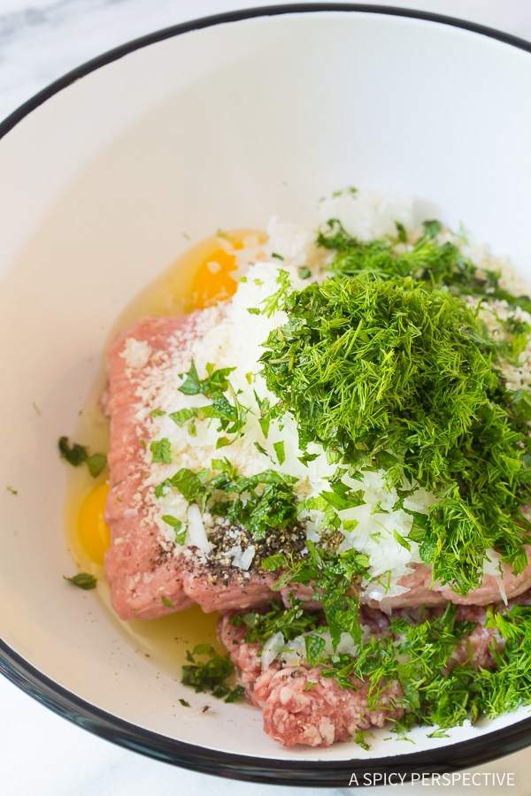Making Saucy Greek Lemon Meatballs (Keftedes) Recipe