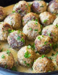 Saucy Greek Lemon Meatballs (Keftedes)