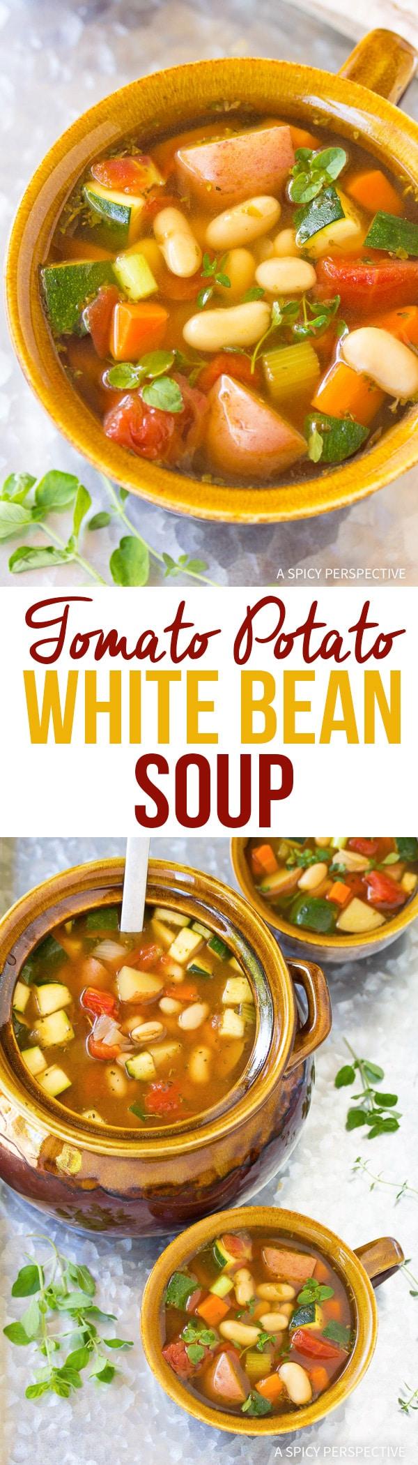 Healthy Tomato Potato White Bean Soup Recipe