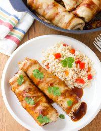 Black Bean Sweet Potato Skillet Enchiladas Recipe