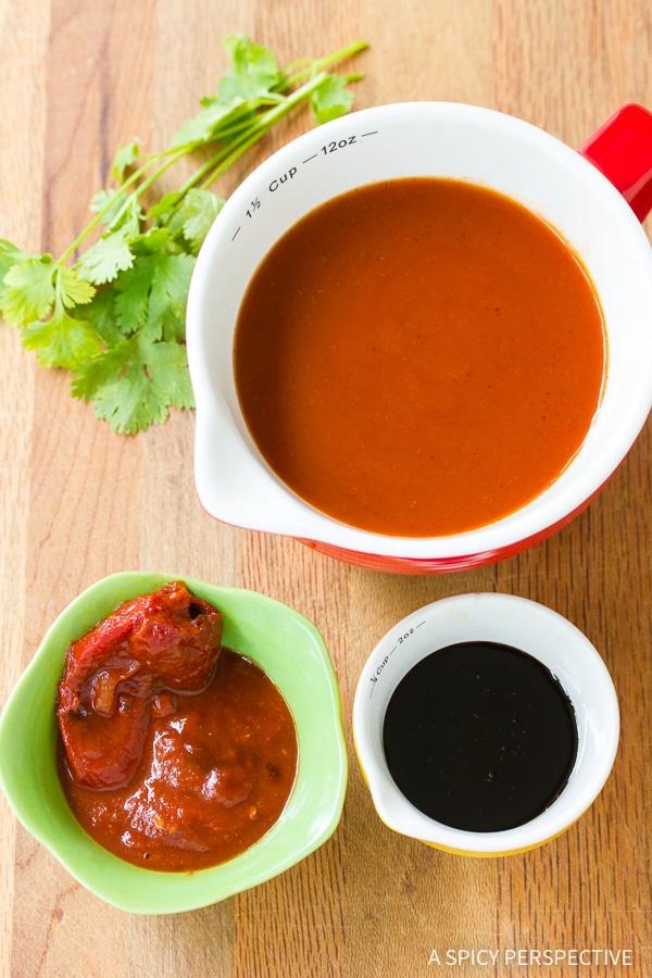 How To: Vegetarian Black Bean Sweet Potato Skillet Enchiladas Recipe
