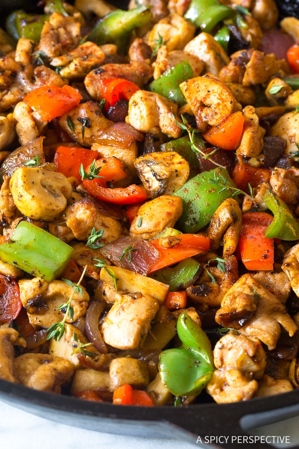 Best Croatian Chicken Mushroom Pepper Skillet Recipe