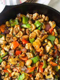 Croatian Chicken Mushroom Pepper Skillet Recipe