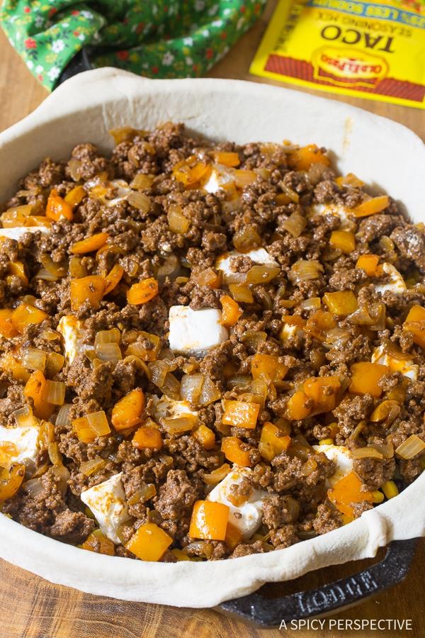 Gotta Make: Skillet Taco Calzone Pie Recipe