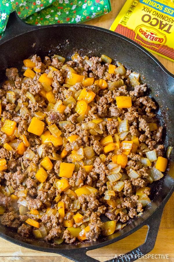 How to Make Skillet Taco Calzone Pie Recipe