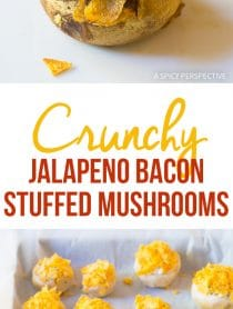 Crispy Jalapeno Bacon Stuffed Mushrooms Recipe