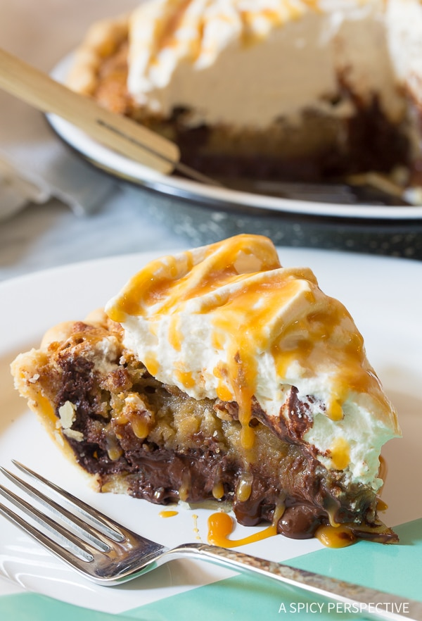 Bourbon Derby Pie with Salted Caramel Whipped Cream Recipe