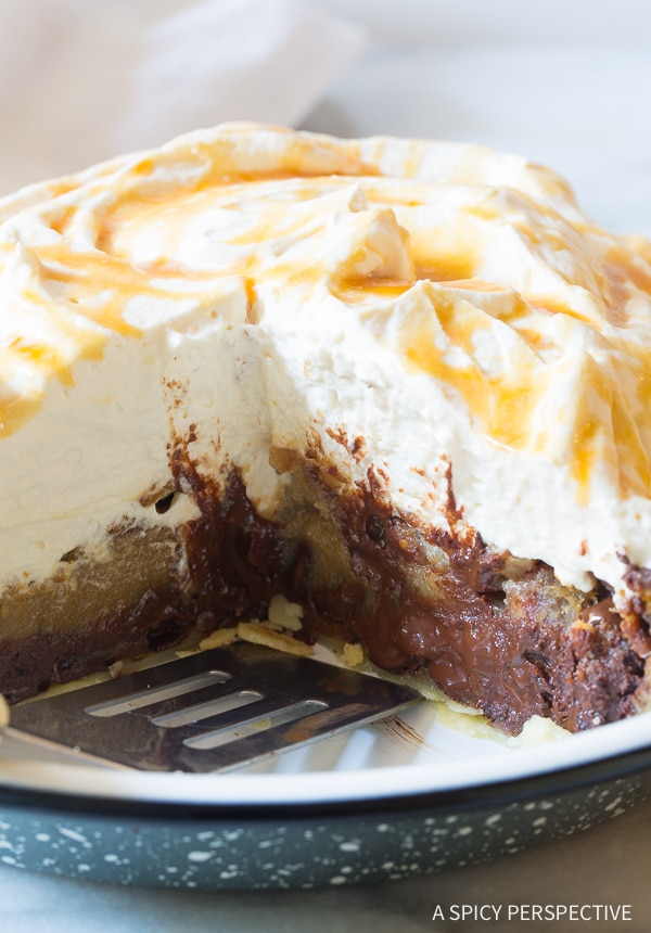 Gooey Bourbon Derby Pie with Salted Caramel Whipped Cream Recipe