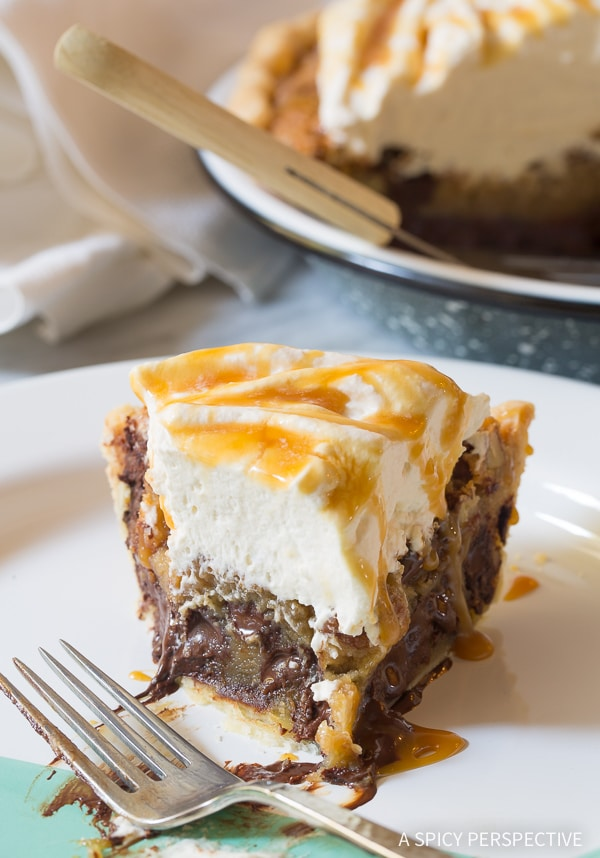 Perfect Bourbon Derby Pie with Salted Caramel Whipped Cream Recipe