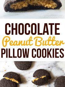The Best Chocolate Peanut Butter Pillow Cookies Recipe