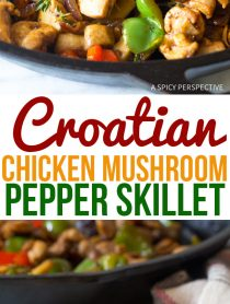 Homey Croatian Chicken Mushroom Pepper Skillet Recipe