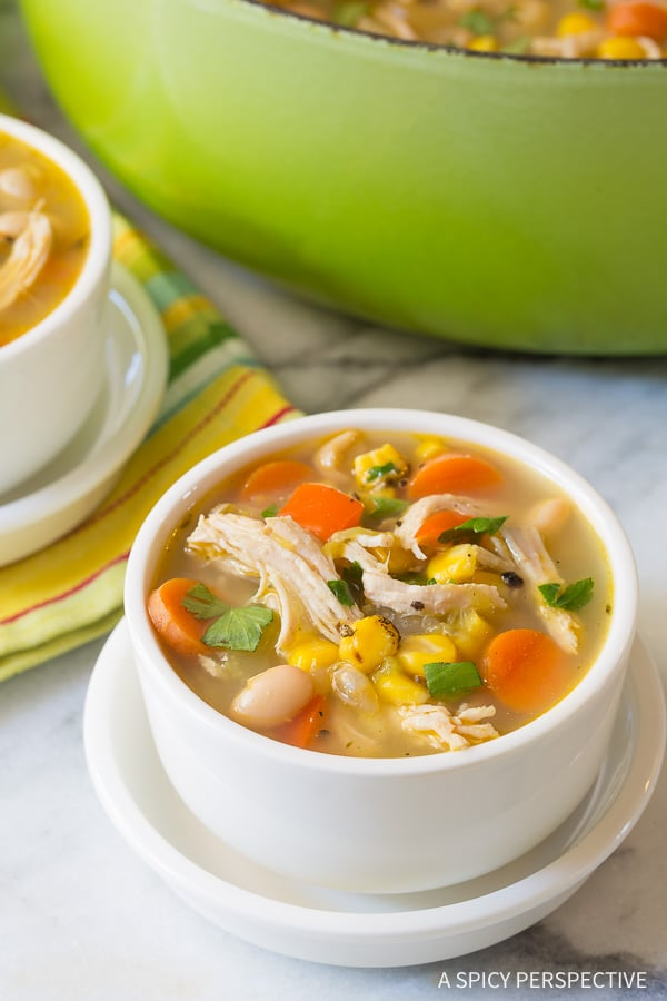 The Perfect Healthy Chicken White Bean Soup Recipe