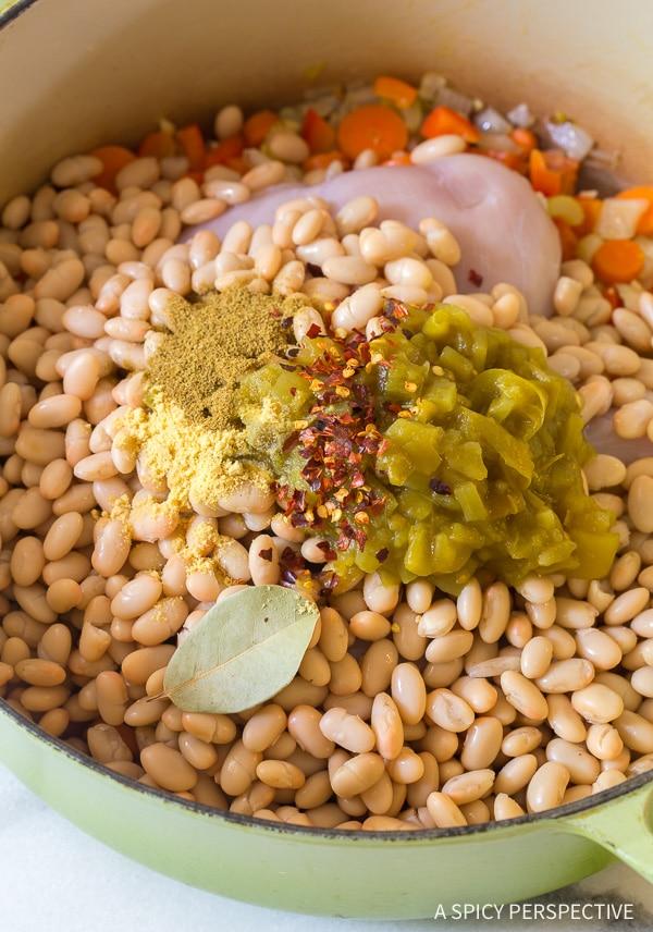 Making Healthy Chicken White Bean Soup Recipe