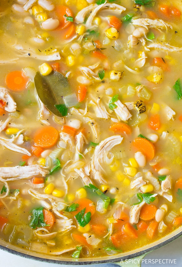 Healthy Chicken White Bean Soup A Spicy Perspective