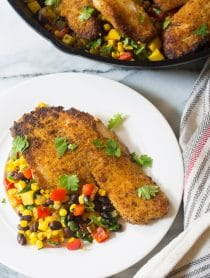 Crispy Pan Fried Tilapia Southwest Skillet Recipe
