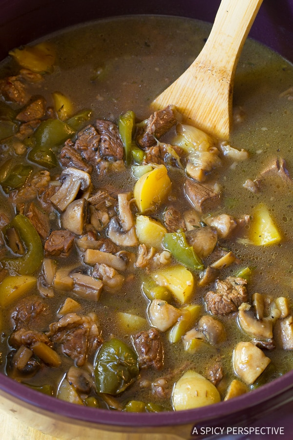 How To: Philly Cheese Steak Soup Recipe - All the appeal of a Philadelphia Cheesesteak Sandwich in a comforting bowl of soup. All the goodness, less calories!