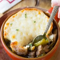 Philly Cheese Steak Soup - Lighter than a Philly Cheesesteak Sandwich... In a bowl!