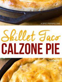Amazing Skillet Taco Calzone Pie Recipe