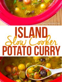 Island Slow Cooker Potato Curry Recipe (Vegetarian!)