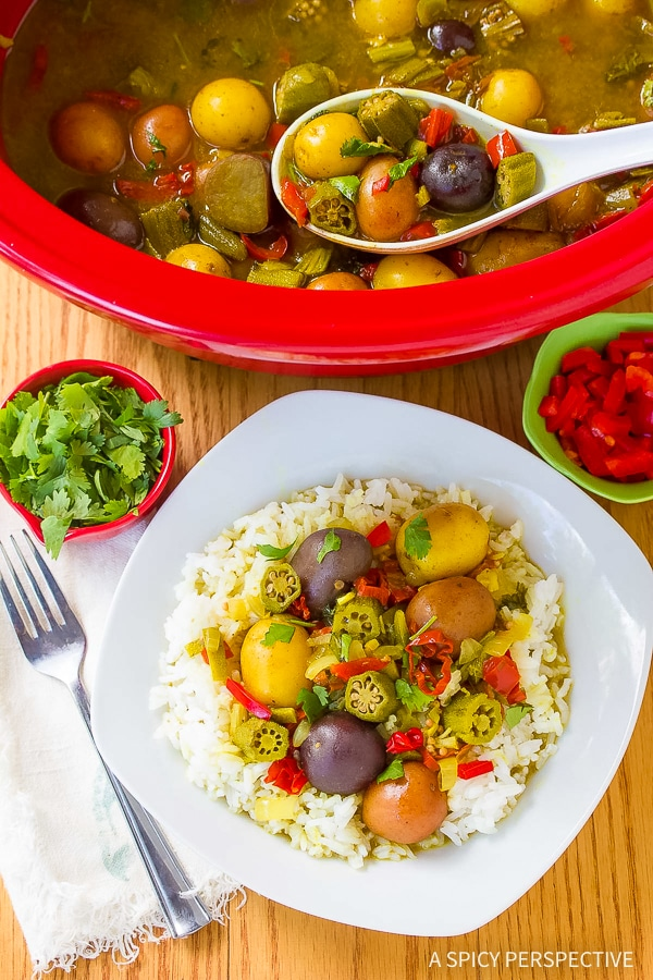 Perfect Island Slow Cooker Potato Curry Recipe (Vegetarian!)