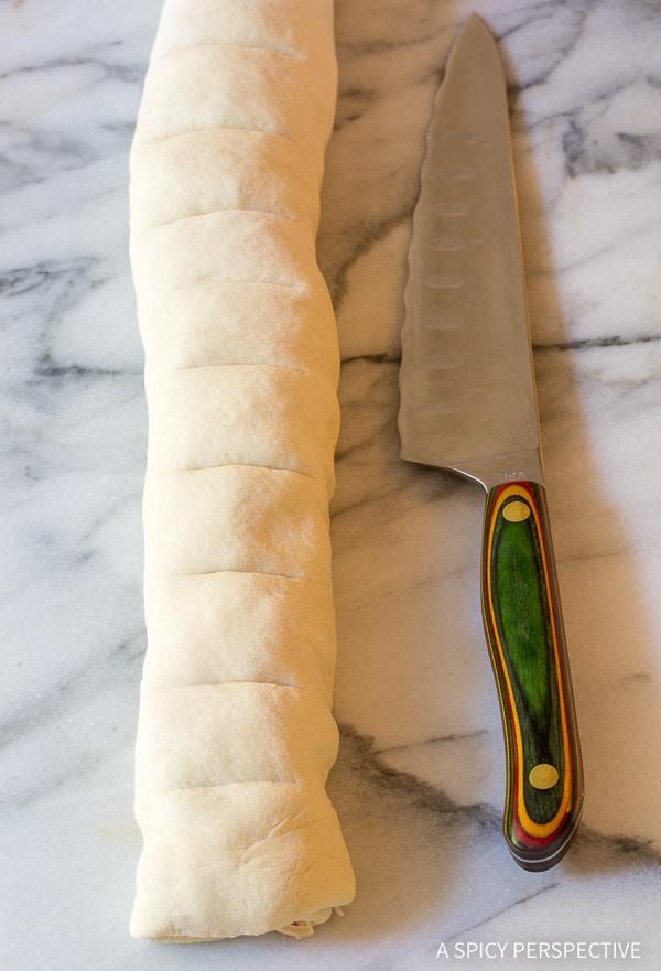 Making Prosciutto Cheese Rolls Recipe