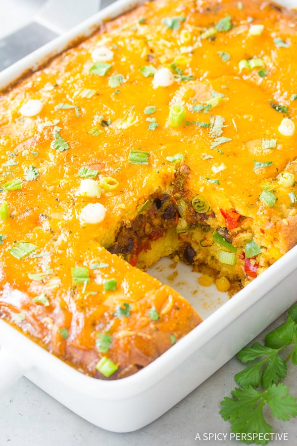 Best Fiesta Stuffed Cornbread Casserole Recipe