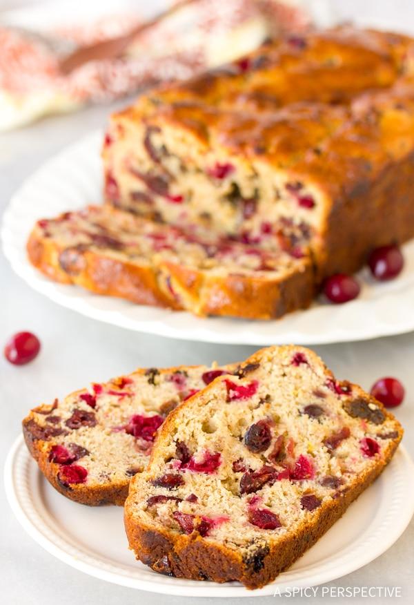 Fresh Orange Cranberry Bread Recipe