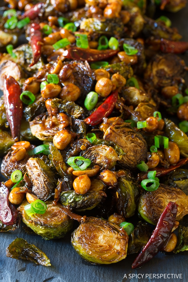 Best Kung Pao Roasted Brussels Sprouts Recipe