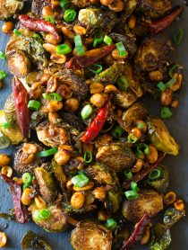 Kung Pao Roasted Brussels Sprouts Recipe