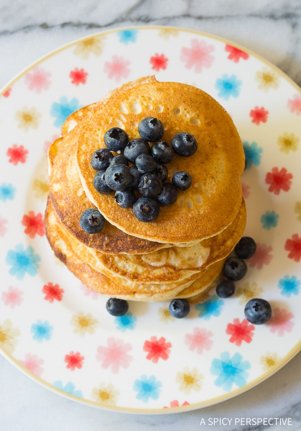 Low Carb Cloud Bread Pancakes (Ketogenic) - A Spicy Perspective