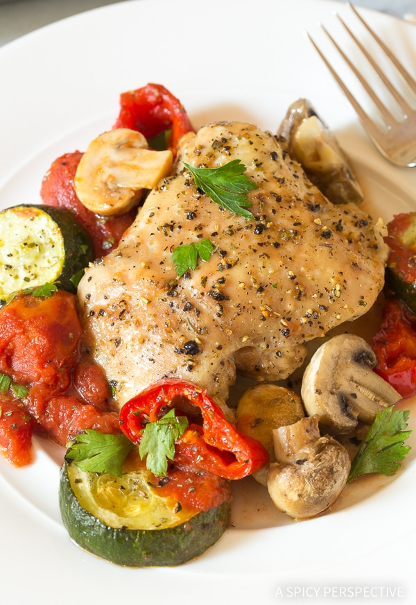 Perfect Low Carb Sheet Pan Chicken Cacciatore Recipe