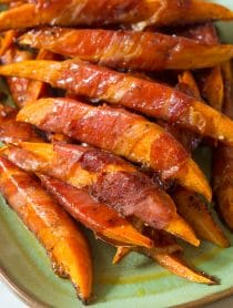 Maple Glazed Prosciutto Wrapped Sweet Potatoes Recipe
