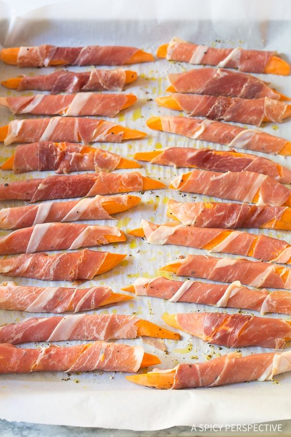 How To Make: Maple Glazed Prosciutto Wrapped Sweet Potatoes Recipe