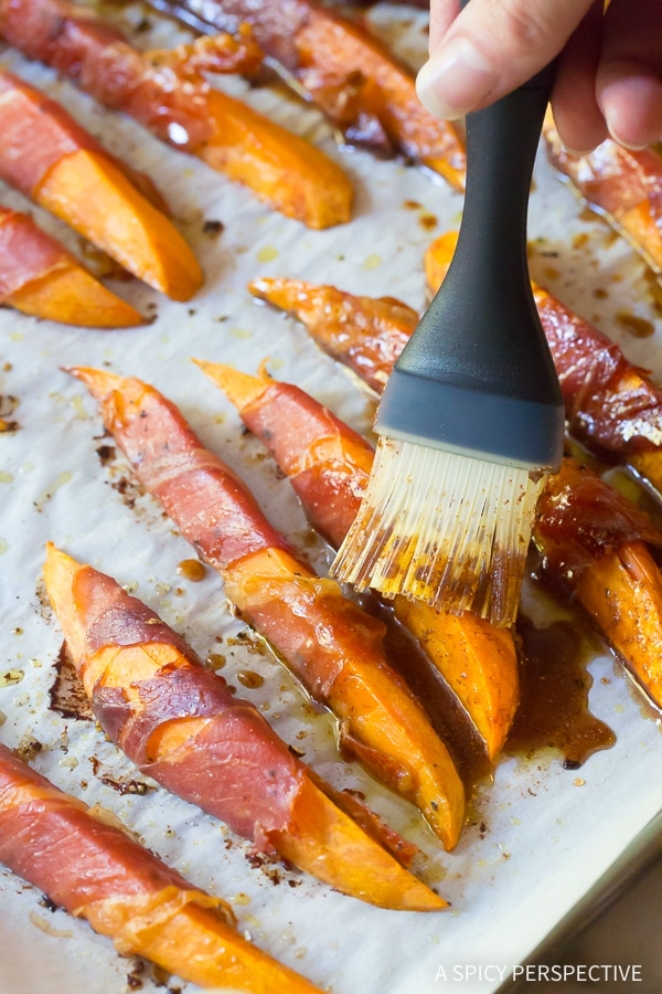 Perfect Maple Glazed Prosciutto Wrapped Sweet Potatoes Recipe