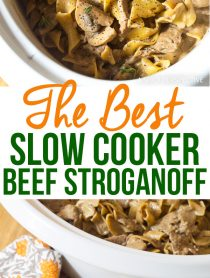 The Best Slow Cooker Beef Stroganoff Recipe Ever!