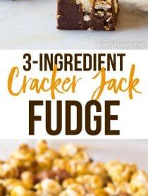 Perfect 3-Ingredient Cracker Jack Fudge Recipe