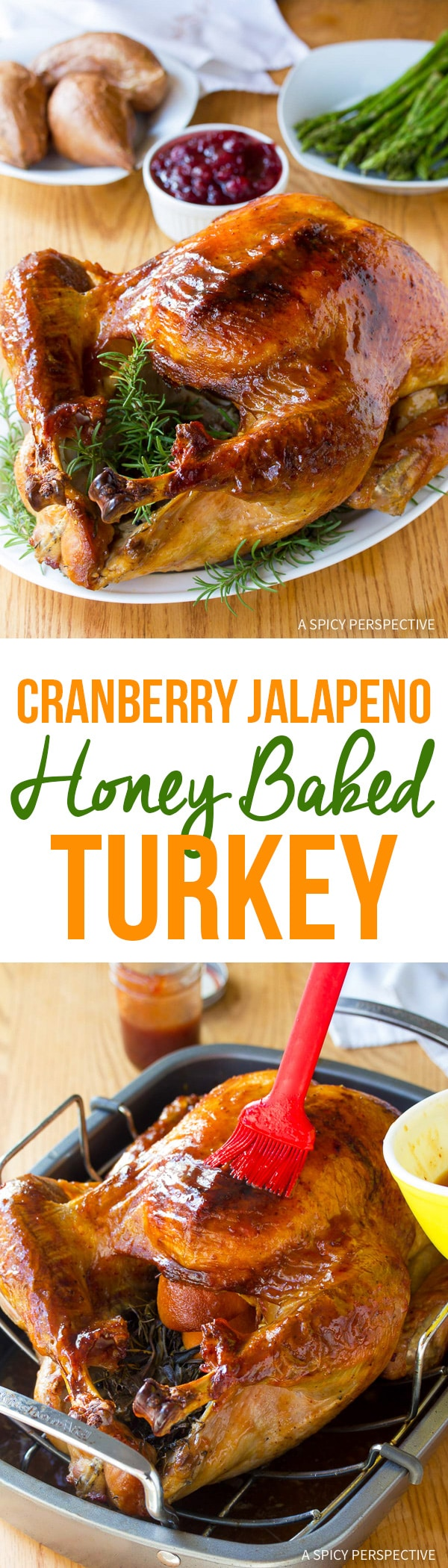 Glistening Cranberry Jalapeno Honey Baked Turkey Recipe