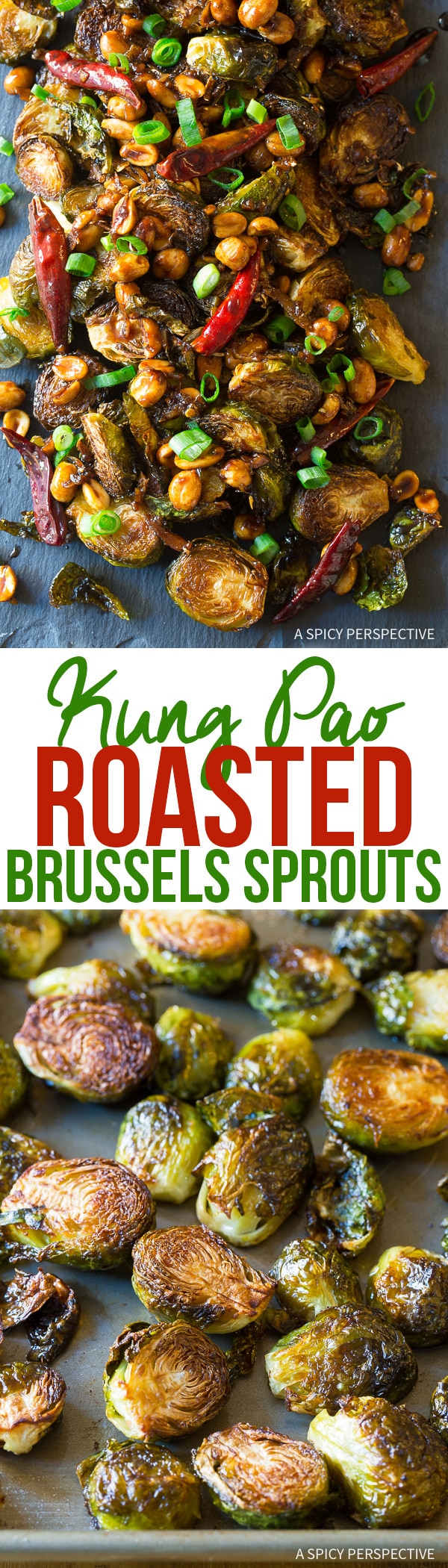 Crispy Kung Pao Roasted Brussels Sprouts Recipe