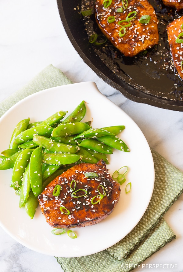 Spicy Pan Fried Korean Pork Chops Recipe