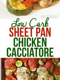Easy Low Carb Sheet Pan Chicken Cacciatore Recipe