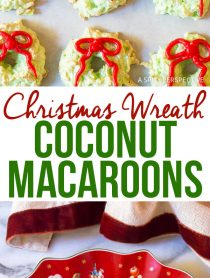 Christmas Wreath Coconut Macaroons Recipe - Gluten Free!