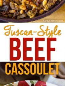 Rustic Tuscan-Style Beef Cassoulet Recipe