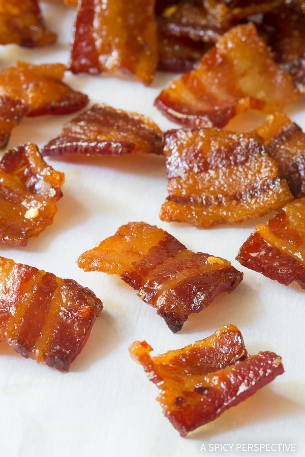 Bourbon Candied Bacon Bites - AKA Pig Candy