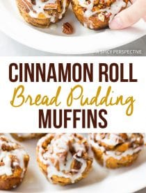 Awesome Cinnamon Roll Bread Pudding Muffins Recipe