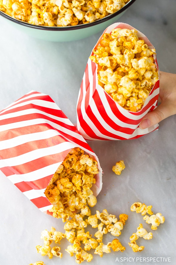 Buffalo Blue Cheese Popcorn Recipe