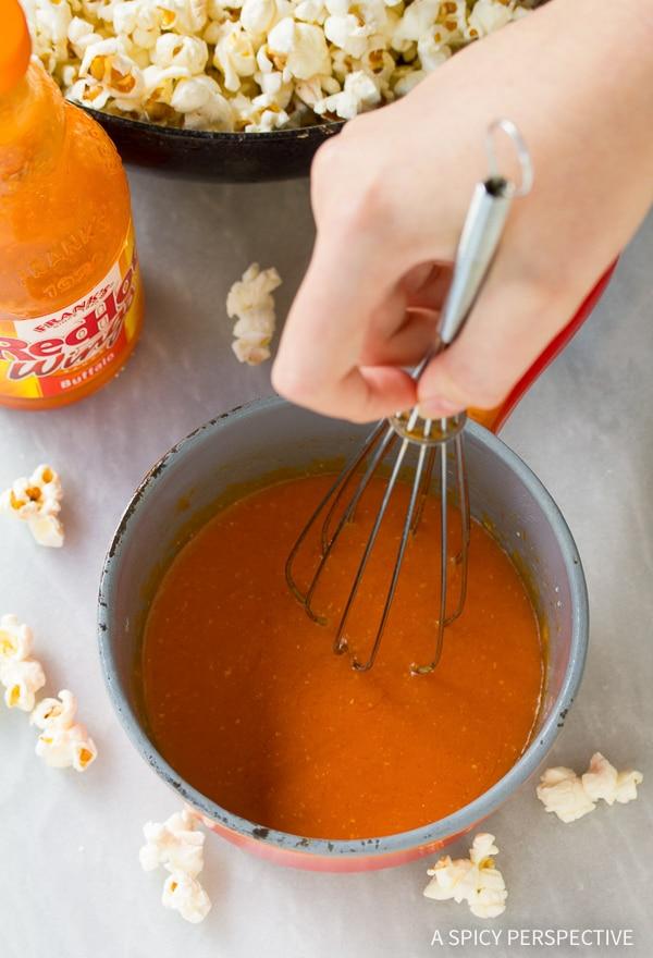 How to Make Buffalo Blue Cheese Popcorn Recipe