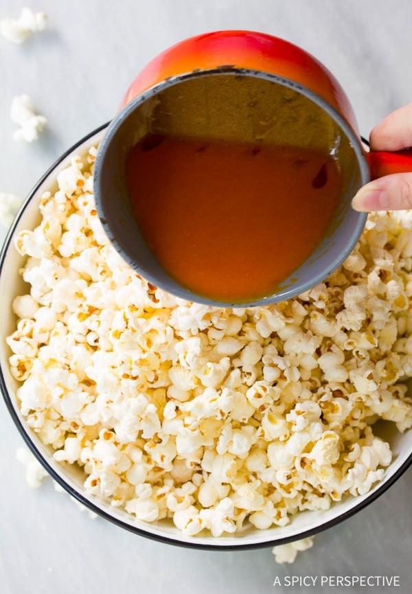 Easy Buffalo Blue Cheese Popcorn Recipe